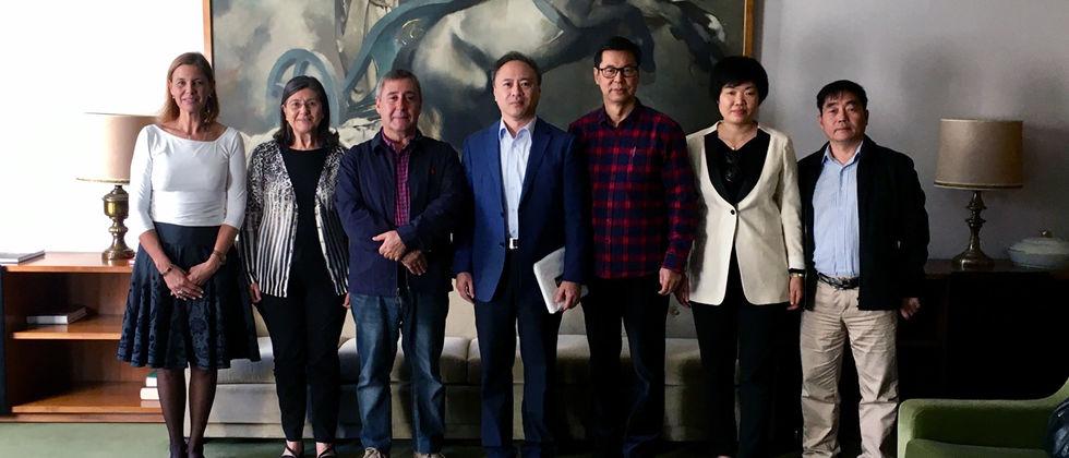 Visita da Universidade de Huaquiao à ULisboa