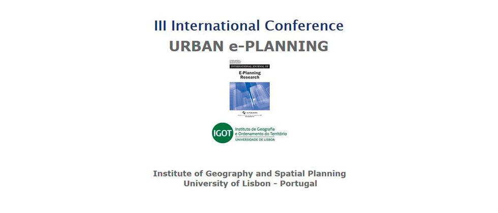 "III International Conference ""Urban E-Planning"""