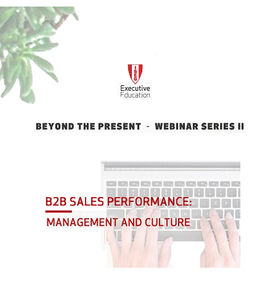 Webinar | B2B Sales Performance: Management and Culture
