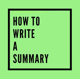 Workshop | How to Write a Summary